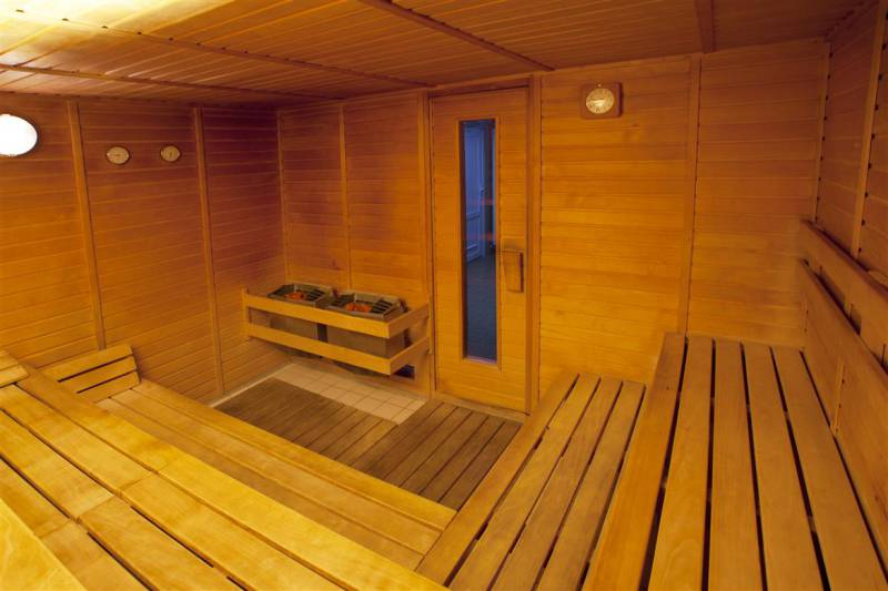 Sauna v hotelu Extol Inn